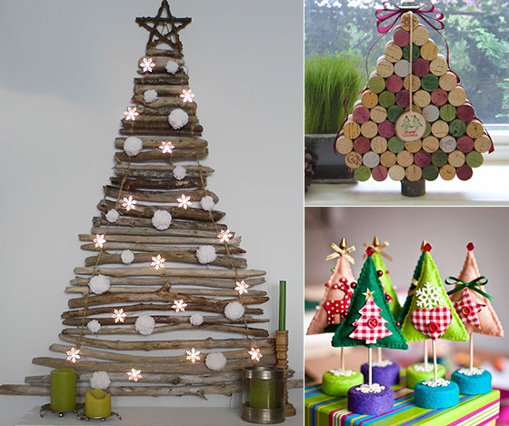 16 creative unconventional christmas tree ideas design swan for Creative christmas ideas