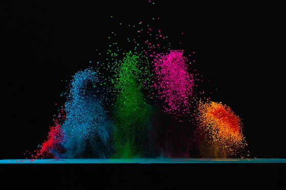 Sound Visualization: Dancing Colors by Fabian Oefner