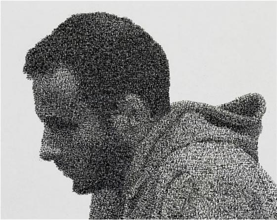 Incredible Data Stamp Painting by Federico Pietrella
