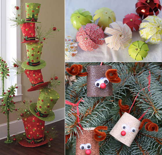 16 creative diy christmas decorations ideas - Diy Christmas Decorations Ideas