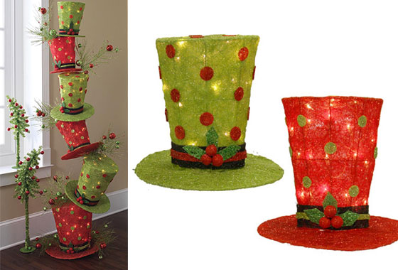 16 creative diy christmas decorations ideas - Top Hat Christmas Decorations