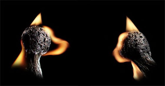 Burnt Match Art: Sculptures Created Using Fire and Burnt Matches
