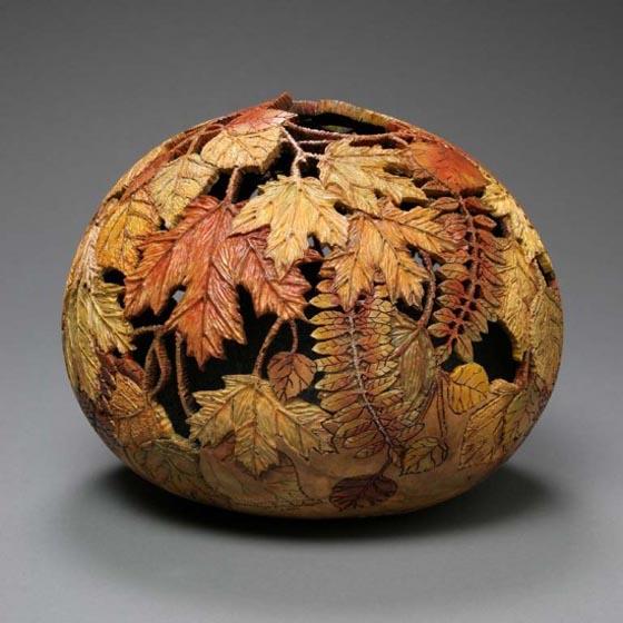 Amazing Gourd Carving Art by Marilyn Sunderland
