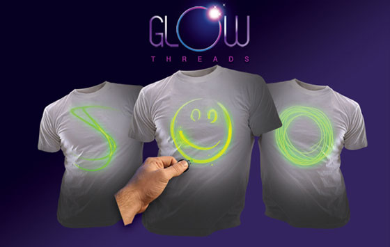 Laser Shirt: Fully Interactive Glow T-Shirt
