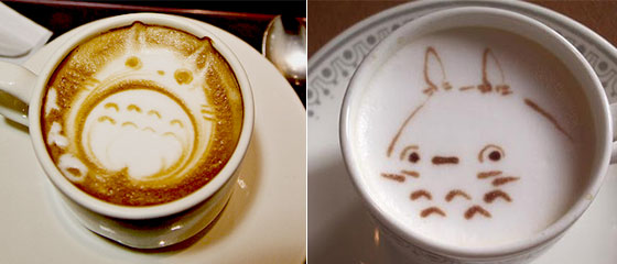 Creative Anime Coffee Swirl Art