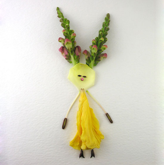 Flower Girls: Lovely Girls Created from Flowers and Plants