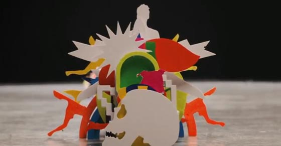 Amazing Paper Craft Stop-Motion Music Video by Katarzyna Kijek and Przemysław Adamski