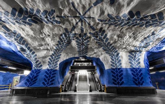 Stunning Stockholm's Underground Subway Art