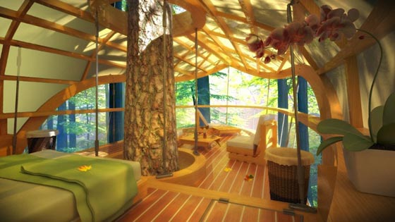 Eco-friendly E'terra Samara Tree-house Resort in Canada
