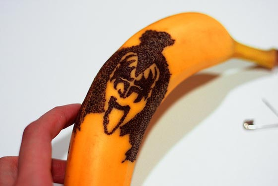 Creative Banana Peel Illustration