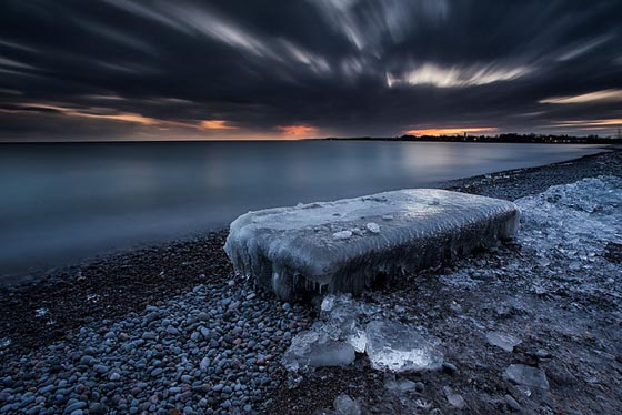 Incredible Photography of Frozen Lake Shore