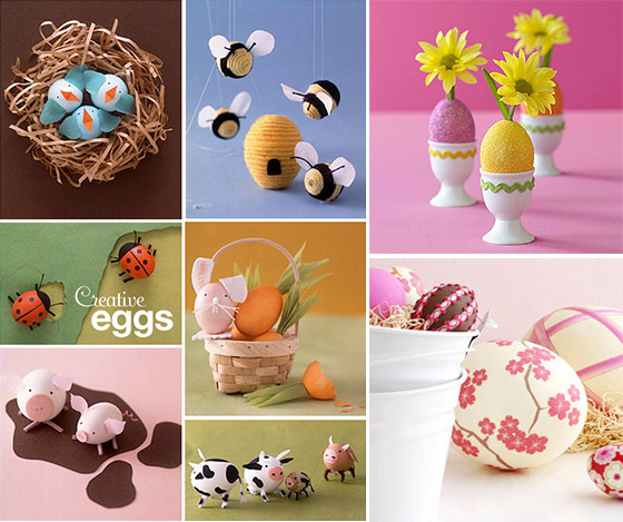 Creative easter egg decoration ideas design swan Creative easter egg decorating ideas