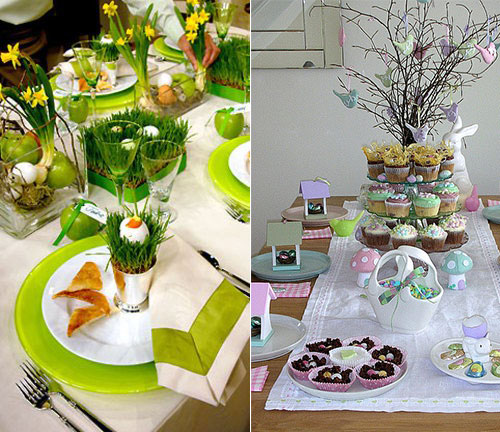 31 beautiful easter table decoration ideas design swan - Table easter decorations ...