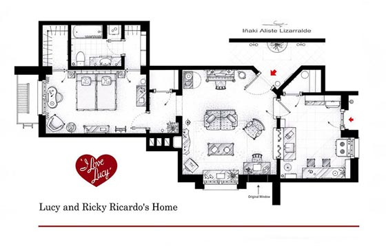 Interesting Detailed Floor Plans of Famous TV Shows by Iñaki Aliste Lizarralde