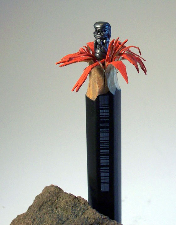Incredible Pencil Lead Sculptures Carving by cerkahegyzo