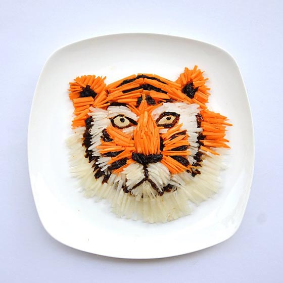 Creativity With Food: Food Art on Plate by Hong Yi