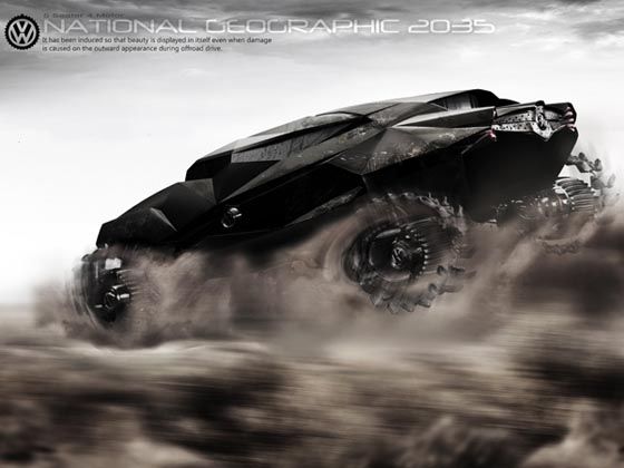 2035 ZAIRE All-terrain Concept Car, Perfect for Photography Team