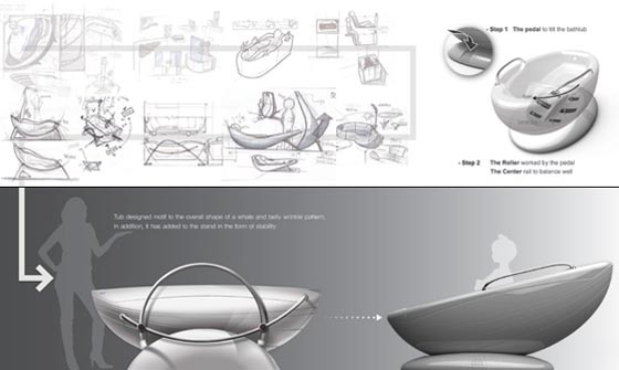 Multi-function Water-saving Bathtub Design