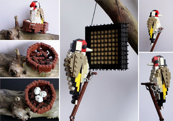 LEGO Bird: Cute Birds Made from LEGO Bricks by Thomas Poulsom