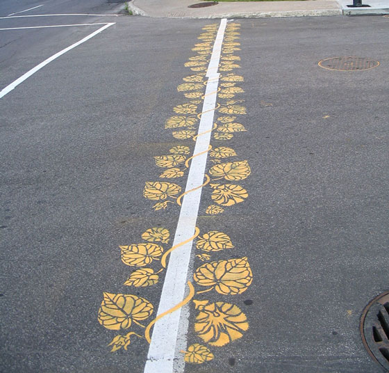 Creative Street Art by Roadsworth: a Poet of Roads