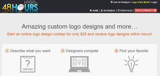 48HoursLogo: a Good Place to Start Logo Design Contest