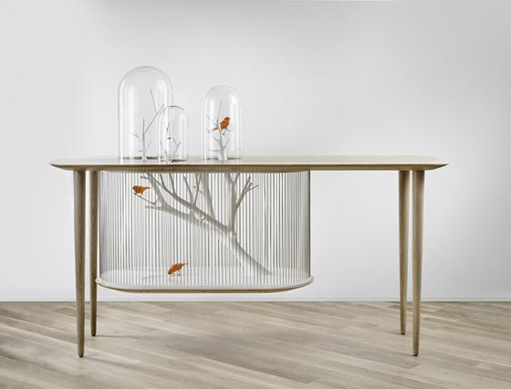 Cage Archibird: a Modern Bird Cage Doubles as a Table