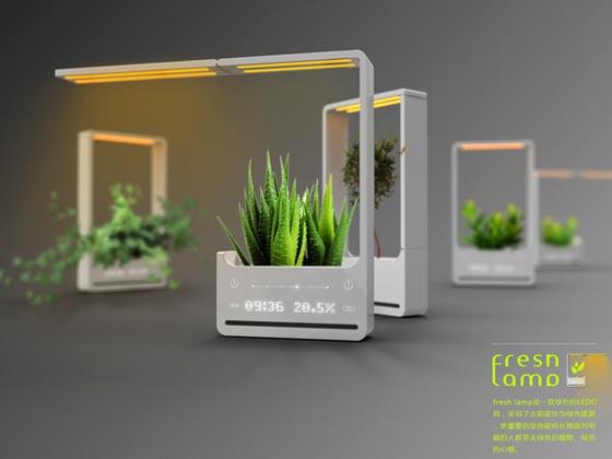 Fresh Lamp: Innovative Plant Caring LED Lamp