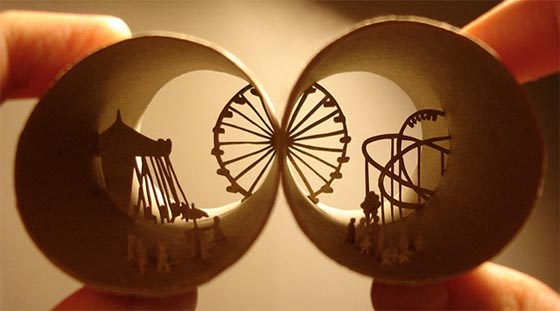 New Toilet Paper Roll Sculptures by Anastassia Elias