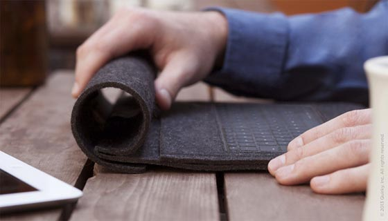 Rollback: a Clever iPad Keyboard Sleeve Doubles as a Stand