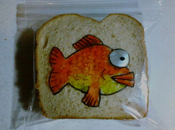Funny Drawing on Kid's Sandwich Bag Every day Since 2008