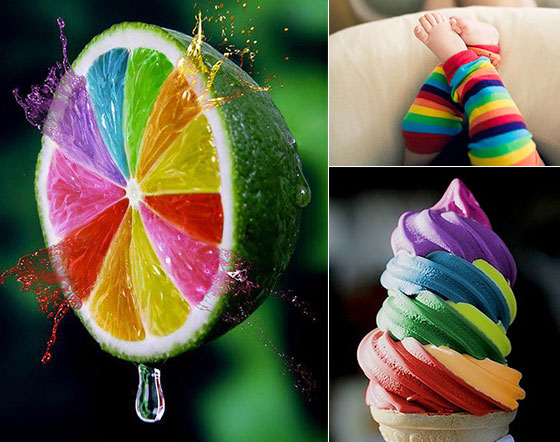 20 Beautiful Pictures in Rainbow Color