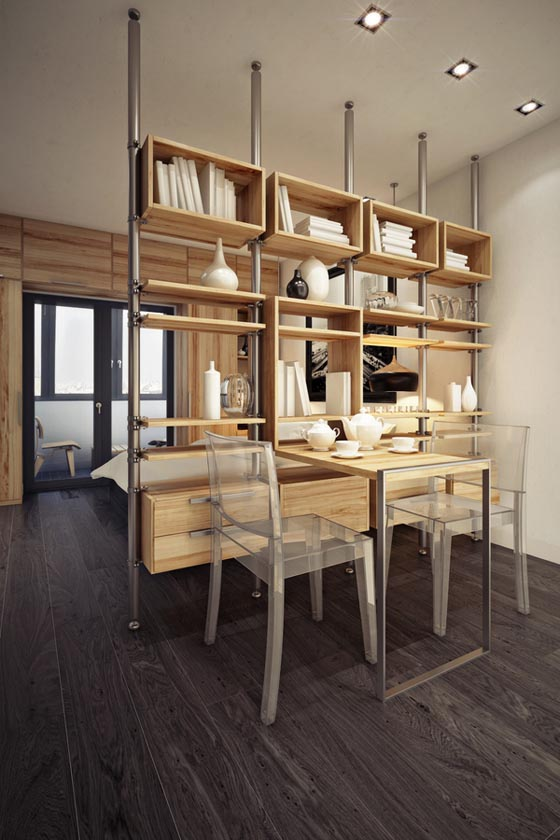 Smart 32sq m Apartment Design in Moscow