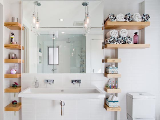Creative Bathroom Shelving Ideas : Creative bathroom shelf ideas for your inspiration