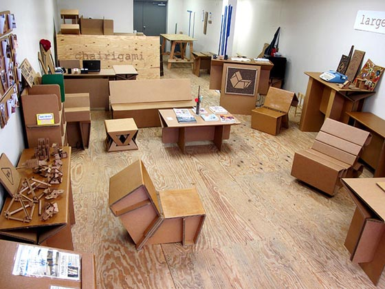 Refoldable Cardboard Furniture - Live a Cheap and Disposable Cardboard Lifestyle