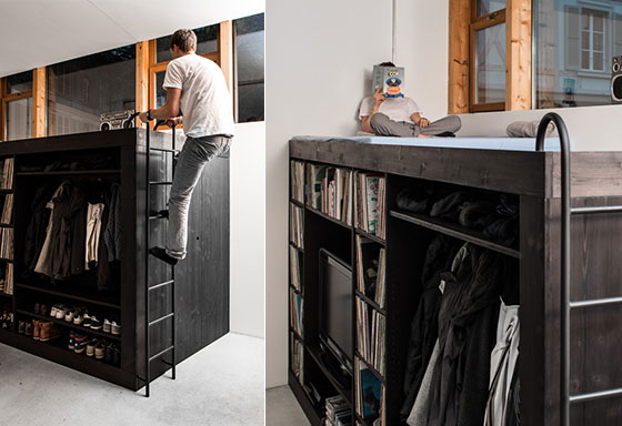 The living cube: Compact Furniture Designed for Small Room