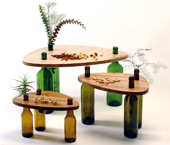 Divinus: Creative Wine Bottle Recycle Furniture by Tati Guimaraes ...