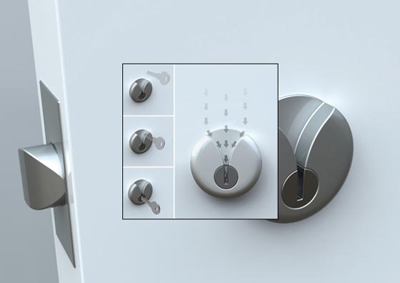 V Lock: Innovative Lock Make you Never Miss the Key Hole