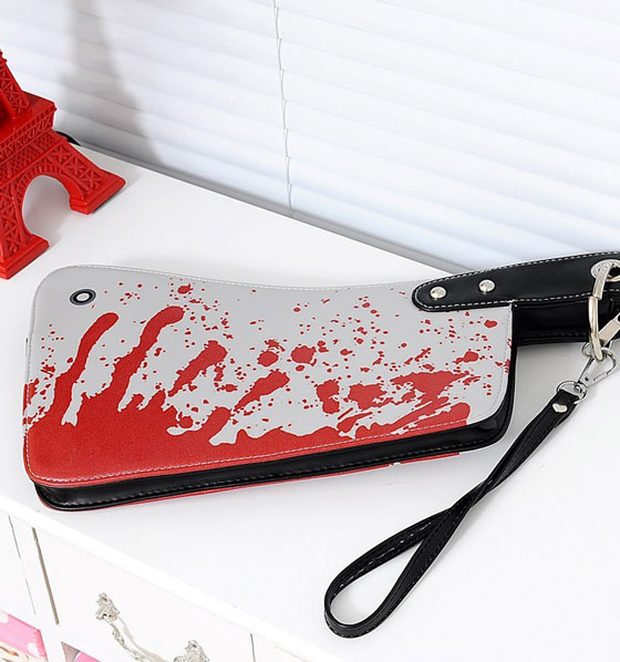 Bloody Cleaver Clutch Purse: Perfect Accessory for Halloween