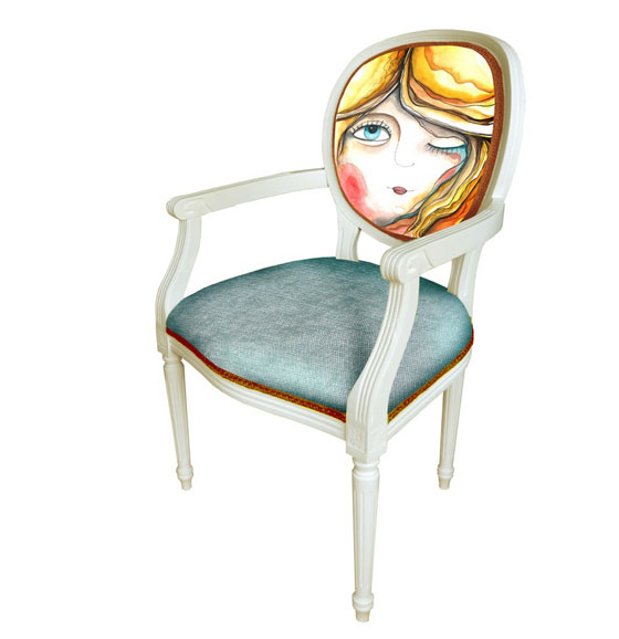 Unusual Chair with Character from thecraftlab