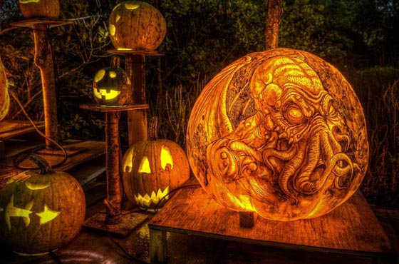 Incredible Jack-O-Lanterns Made by Crew from Passion for Pumpkins