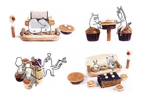 Sweeties Furniture: Cupcake Stool and Biscuit Table