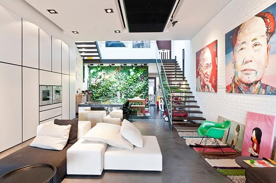 Contemporary Terrace House in Singapore