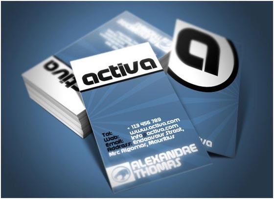30 Amazing Blue Business Cards Designs