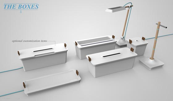 Modular Concept Desk for Organizationally Obsessed by Francois Dransart