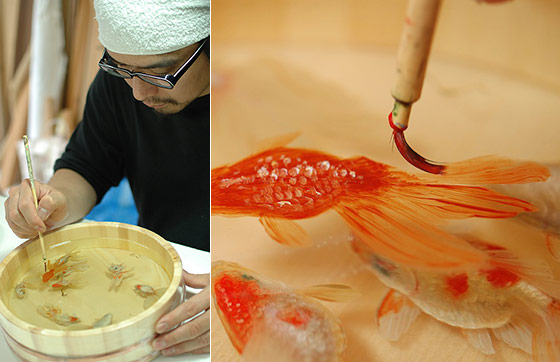 The Painted Breath: 3D Painting of Layered Resin Goldfish by Riusuke Fukahori