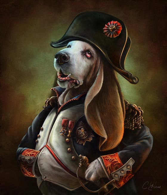 Animals From History: Creative and Playful Illustrations of Famous Character Portrayed by Cat or Dog