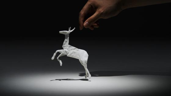 Tissue Paper Animal in Life: Creative Stop Motion for Japanese Paper Company