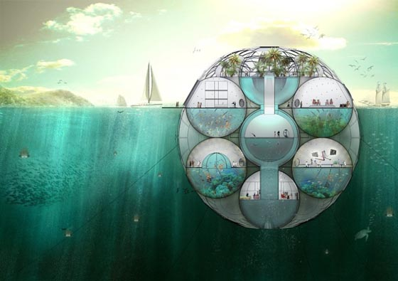 Bloom: Futuristic Semi-submersible Farm