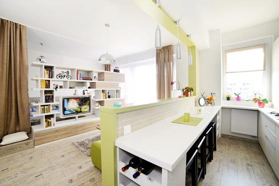 Creatively Convert 40 Square Meter into Two Rooms