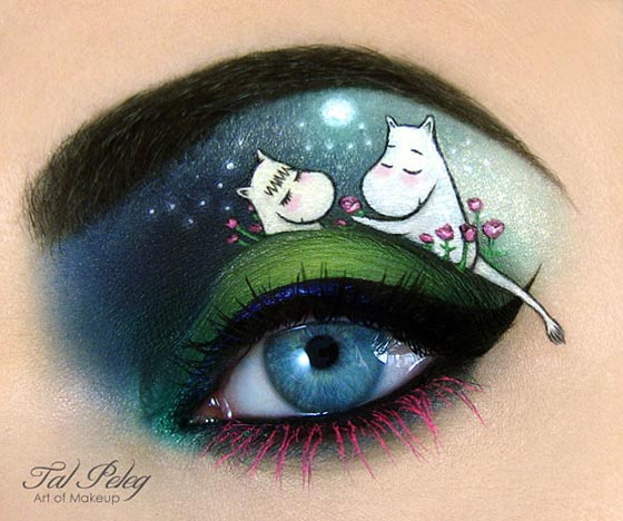 Creative and Unusual Eye Makeup Art by Tal Peleg